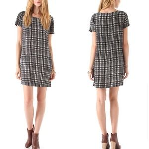Joie silk houndstooth shift dress Modaline medium